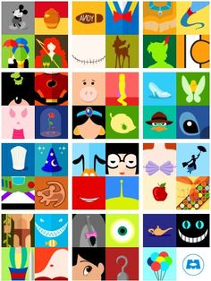 Disney collage -- so cool Disney Canvas Paintings, Disney Canvas Art, Mini Canvas Art, Disney Symbols, Disney Icons, Disney Collage, Minimalista Disney, Mini Tela, Disney Minimalist