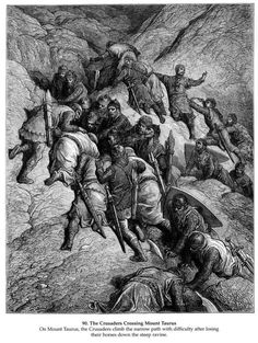The Crusaders Crossing Mount Taurus - Gustave Dore - WikiPaintings.org