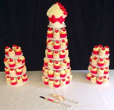 Gorgeous #cupcaketowers with #handcrafted Lilly's #vanillasponge topped with scrumptious buttercream. Delivered to the #holmfieldarmswakefield by #CakeBakes xx