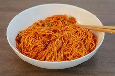 Bibim guksu (Korean Spicy Cold Noodles) - Kang's Kitchen | chopsticks and flour