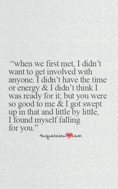 Love Quotes : Cute Falling In Love Quotes For Him - Quotes Sayings Now Quotes, Free Quotes, Love Quotes For Him, Quotes To Live By, Love Is Scary Quotes, Fallen For You Quotes, Patient Love Quotes, Cute Quotes For Your Crush, Falling Out Of Love Quotes