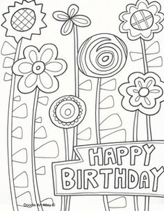Cake Happy Birthday Party Coloring Pages – nice coloring pages for ...
