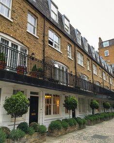 A row of mews houses, Kensington, London