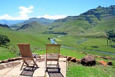 Click on pic to see more. Welcome to the wilderness shared between South Africa and the mountain Kingdom of Lesotho. Majestic mountains, rising to over 3000 metres above sea level, tower over the Umzimkulu River Valley. A photographer's and wilderness lover's paradise. Just outside Underberg, Orchid Valley Lodge is the ultimate in beauty, tranquility and privacy. Set on 200ha of private reserve, Orchid Valley boasts Umzimkulu River frontage and the best view of Bamboo Mountain. Kwazulu Natal, Outdoor Furniture Sets, Outdoor Decor, Sea Level, Nice View, Wilderness, South Africa, Orchids, Bamboo