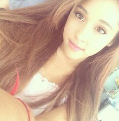 Ariana grande brown hair selfie #OMG #Arisocute