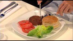 Una hamburguesa cultivada en el laboratorio.