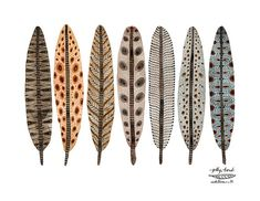 Items similar to LARGE Terra Feathers Collection Print, giclee print, watercolor print, birds feathers illustration, bird art on Etsy Feather Illustration, Garden Illustration, Feather Art, Bird Feathers, Diy Art, Blue Wings, Painted Leaves, Leaf Art, Art Plastique