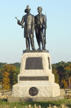 """73rd New York Monument Gettysburg National Military Park....This monument stands where Gilbert Underhill  and the """"Excelsior Brigade"""" fought in the Peach Orchard and along Emmitsburg road opposite the 13th Mississippi, in the battle of Gettysburg July 2nd 1863."""