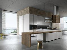LOOK Cocina con isla by Snaidero diseño Michele Marcon