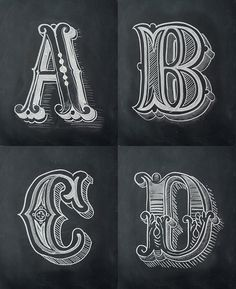 Chalk Alphabet on Behance