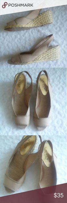 Ralph Lauren Catrin Espadrille Wedge Sandals Super cute, NWOT and trendy Lauren Ralph Lauren Shoes