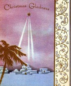 Star of Bethlehem Vintage Christmas Card