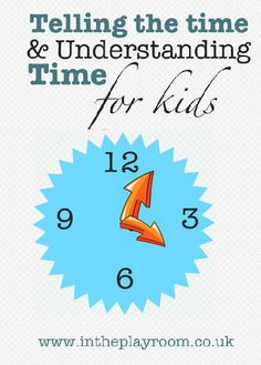 telling the time and children learning to understand time