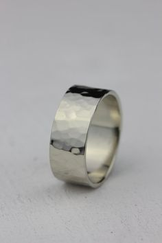 14k gold mens wedding ring by PraxisJewelry on Etsy