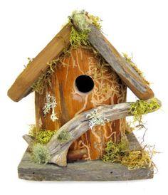 Natural Log Birdhouse