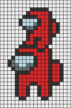 Pixel Art Templates, Perler Bead Templates, Diy Perler Beads, Perler Bead Art, Melty Bead Patterns, Perler Patterns, Beading Patterns, Easy Pixel Art, Pixel Art Grid