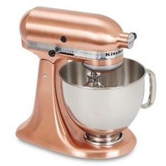 Copper Kitchenaid that i gave you...You can keep it clean with one lemon and a pinch of salt.  Get cookin honey!