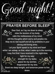 Good Day Quotes: Good Night Prayer - Quotes Sayings Prayer Scriptures, Bible Prayers, Faith Prayer, God Prayer, Prayer Quotes, Power Of Prayer, Prayer Meme, Bible Quotes, Bible Quotations