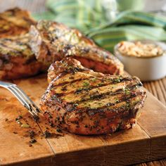 Grilled Pork Chops with Basil-Garlic Rub - Pork Recipes - Pork Be Inspired