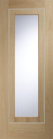 Internal Pre-Finished Oak Varese Clear Glass Door