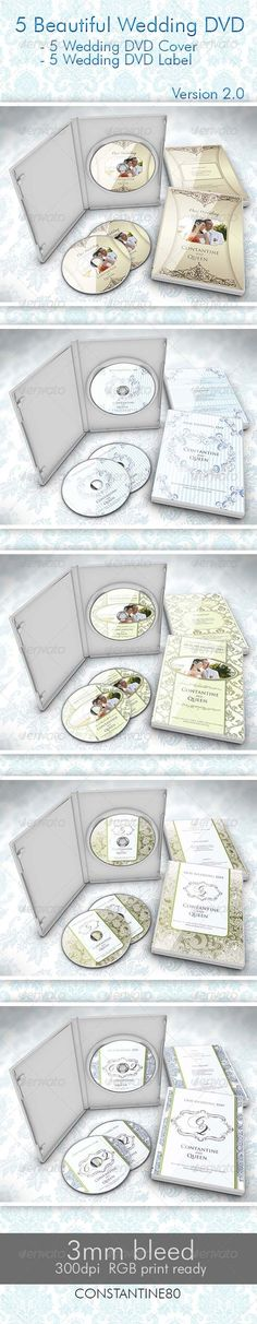 5 Beautiful Wedding DVD Ver 2.0 - #Weddings #Cards & #Invites Download here: https://graphicriver.net/item/5-beautiful-wedding-dvd-ver-20/2693366?ref=alena994
