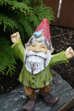 9 Woodland Garden Gnome Celebrating