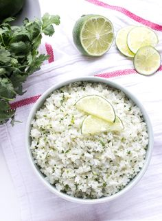Cilantro-Lime Coconut Rice The only way to eat rice! Cooked in coconut milk and loaded with fresh cilantro and lime zest! Ultimate side to any meal Rice Recipes, Side Dish Recipes, Mexican Food Recipes, Vegetarian Recipes, Cooking Recipes, Healthy Recipes, Ethnic Recipes, Delicious Recipes, Side Dishes
