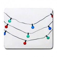 Christmas Light String Abstract Art Large Mousepad