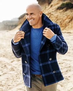 What to Wear Today: An updated navy peacoat. ( by @wattsupphoto) #WTWT #OOTD