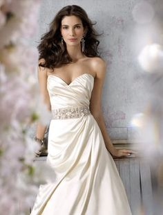 klienfeld bridal - JIM HJELM SWEETHEART A-LINE GOWN IN SILK FACED SATIN, Style No: 31962715