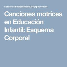 Canciones motrices en Educación Infantil: Esquema Corporal
