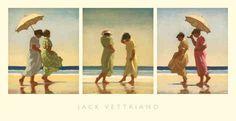 Jack Vettriano - Summer Days - Triptych
