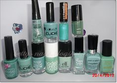 Mint green  http://betty-nails.blogspot.pt/2012/04/mint-green-obcession-not-at-all.html