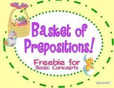 Basket of Prepositions - Freebie!