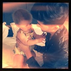 I think it's the cutest thing when guys play with babies. :) ...especially when that guy is Zayn Malik