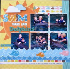 Swim with the Dolphins - Left Side - Scrapbook.com