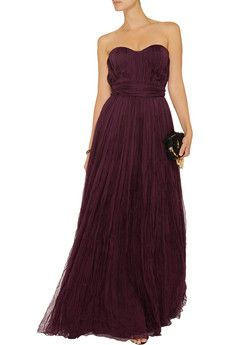 Crinkled silk-chiffon gown by Alexander McQueen 65% Off!   was $4030  Now $1410