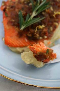 Bacon-Date Crusted Salmon | Autoimmune-Paleo.com