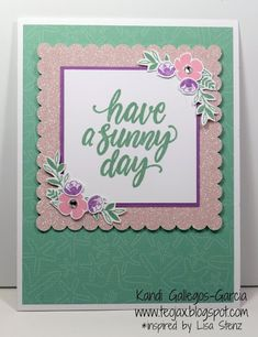 "teojax: Make Waves - ""Have a Sunny Day"" card, Make Waves - Cardmaking, Close to My Heart, CTMH"