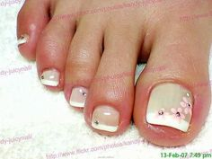 Taupe Polish with Grench Tips French Nails, French Pedicure, Pedicure Nail Art, Toe Nail Art, Diy Nails, Pedicure Designs, Toe Nail Designs, Nails Design, Fabulous Nails