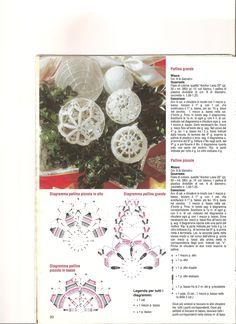 boules de Noël au crochet