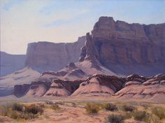 Vermillion Cliffs by Bruce Peil Oil ~ 18 x 24