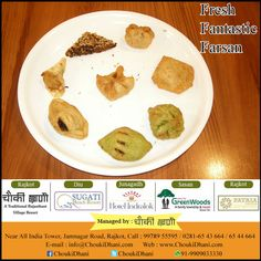 Without Farsan & Sweet Indian dish is incomplete. ChoukiDhani Resort cooks Tasty, Namkeen, Healthy, Fresh & Crispy Farsan to complete your Indian dish. Enjoy alluring & scrumptious Farsan & traditional Indian dish.