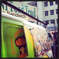 Out and About in Bandung: food truck in front of Telkom Creative Industries School. #Indonesia