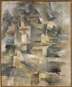 Georges Braque (France, 1882-1963) – Les Usines du Rio-Tinto à l'Estaque (1910) Centre Pompidou, Musée national d'Art moderne, Paris