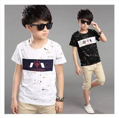 $11.29 (Buy here: http://appdeal.ru/5j6e ) 4-14Year 2015 Summer New Cartoon Children T Shirts Boys Kids T-Shirt Designs Teen Clothing For Boys Baby Clothing Girls T-Shirts for just $11.29