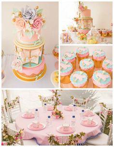Pastel Carousel Birthday Party via Kara's Party Ideas | KarasPartyIdeas.com (3)