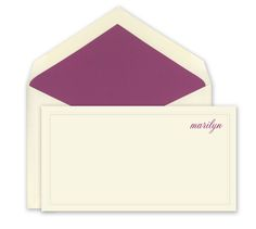 Embossed Border Monarch Correspondence Cards