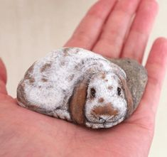 Japanese artist Akie Nakata (known simply as Akie) has been using a rather special canvas for his artwork. She's been turning stones, pebbles and rocks into incredible animal paintings that you can hold in your hand. Artist Painting, Stone Painting, Felt Animals, Cute Animals, Art Pierre, Origami Artist, Pet Rocks, Hand Painted Rocks, Japanese Artists