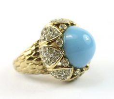 1960's Unsigned Jomaz Turquoise ring with diamante stones #HOLTaiganJewels from @Taigan and @HouseofLavande @TaiganFinds     #HOLTaiganJewels